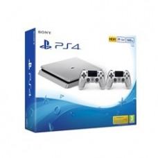Consola Sony PS4 500gb Plata Slim Nuevo Chasis + 2 Mandos Dualshock