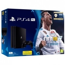 Consola Sony PS4 Pro Black + Fifa 18 + Ps Plus 14 Dias