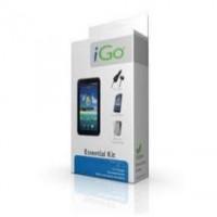Accesorio Ipad 2 Essential Kit Igo. Funda Protectora Silicona + Protector Pantalla Diamant+ Cargador Mechero  /  Coche + Cable Carga