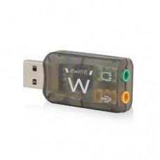 Adaptador de Audio Ewent Sonido Virtual 3D 5.1 /  USB 2.0
