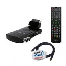 Mini Receptor TDT HD Nevir NVR-2504 Euroconector + HDMI USB Grabador