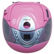 Radio Cd MP3 Portatil Nevir NVR-474U Rosa