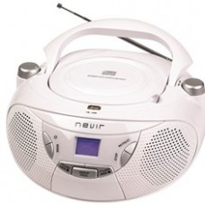 Radio Cd MP3 Portatil Nevir NVR-475U Blanco