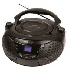 Radio Cd MP3 Portatil Nevir NVR-475U Negro