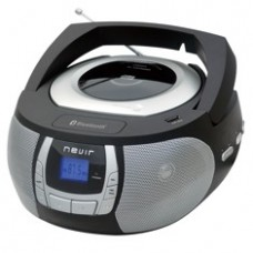 Radio Cd MP3 Portatil Nevir Nvr- 481UB Negro  /  Bluetooth