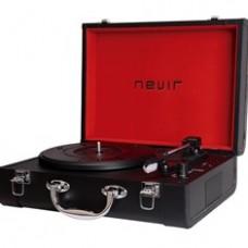 Tocadiscos Portatil Bluetooth Nevir NVR-804VBUE  Negro