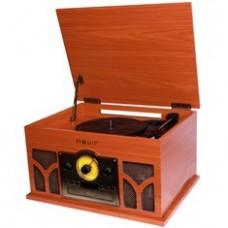 Tocadiscos con Radio Cd Conversor Bluetooth Nevir NVR-807VRBUC de Madera