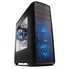Caja Ordenador Gaming Nox Coolbay Zx  ATX , USB 3.0, LED Azul ,sin Fuente