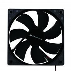 Ventilador Auxiliar Phoenix PHCOOLERFAN12 12CM  /  3 A 4 Pines /  12000RPM /  Silencioso /  Color Negro