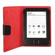 Funda Universal Phoenix PHEBOOKCASE6+ Para Tablet  /  Libro Electronico Ereader  /  Ebook  Super Fina  /  Slim  hasta 6'' Negra Simil Piel