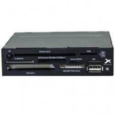 Lector Tarjetas Memoria Phoenix 3.5'' Interno  USB 2.0. , Smart Card - Dni Electronico , Color Negro