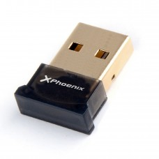 Adaptador Bluetooth 4.0 Phoenix Phusbbtadapter  Nano Dongle USB 2.0 Plug And Play Valido Para  /  Windows  /   Mac Os Negro