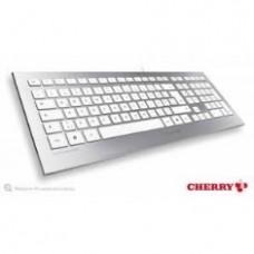 Teclado Cherry Strait JK-0300 USB Blanco  /  Plata, Ultra Silencioso