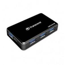 Hub Externo Trascend USB 3.0 con 4 Puertos  Incluye Alimentador, Cable 3.0 USB y Un Potente Adaptador