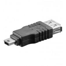 Adaptador  Mini USB Macho A USB Hembra